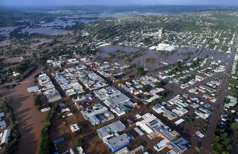 The entire Lismore CBD was submerged in the flooding. Photo: Sydney Morning Herald