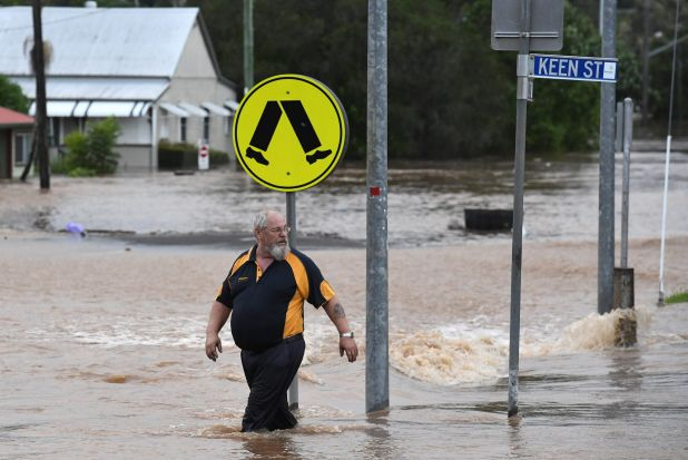 Keen Street, upon which the Lismore Workers Club. Photo: Sydney Morning Herald.